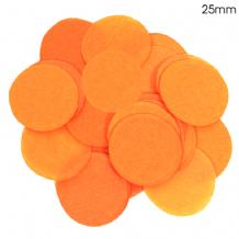 Orange Tissue Paper Confetti | 25mm Round | 100g Bag